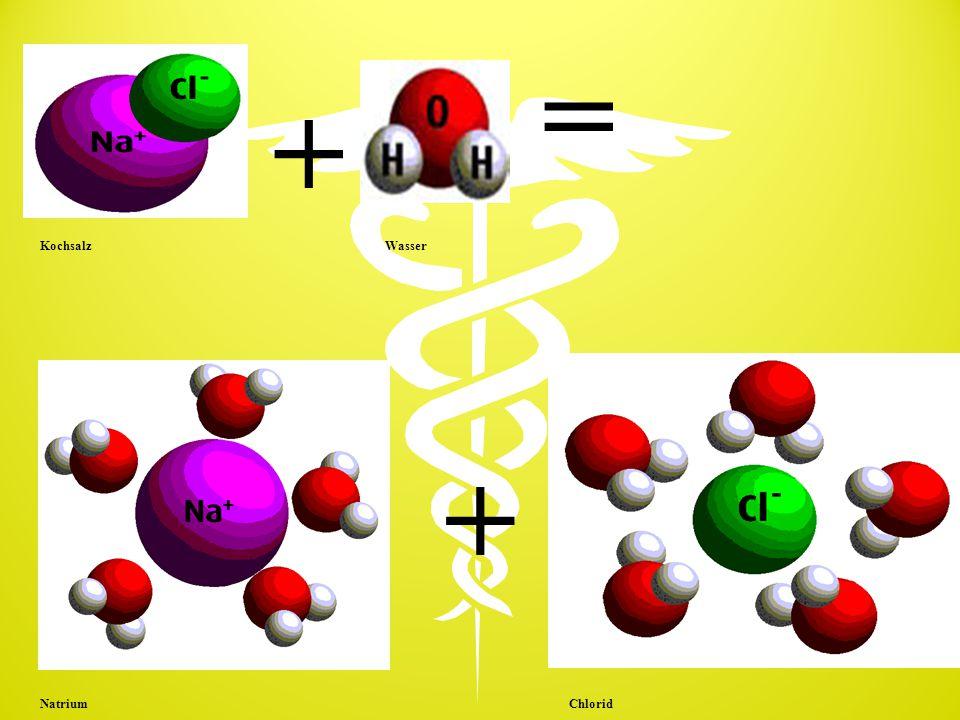 + = + Kochsalz Wasser Natrium Chlorid