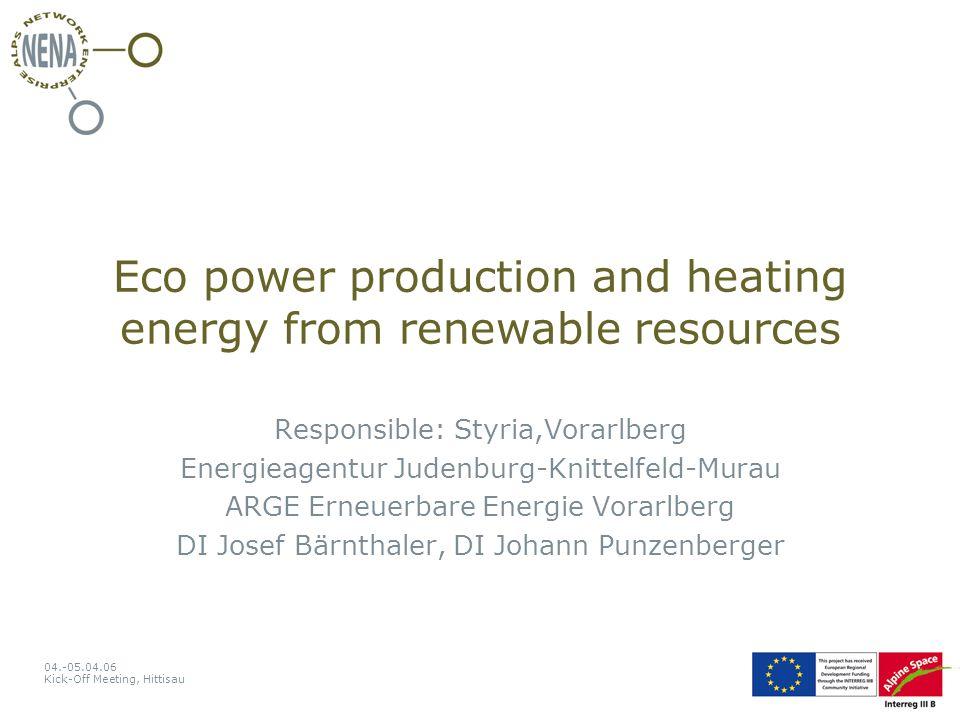 04.-05.04.06 Kick-Off Meeting, Hittisau Solar or Oil?