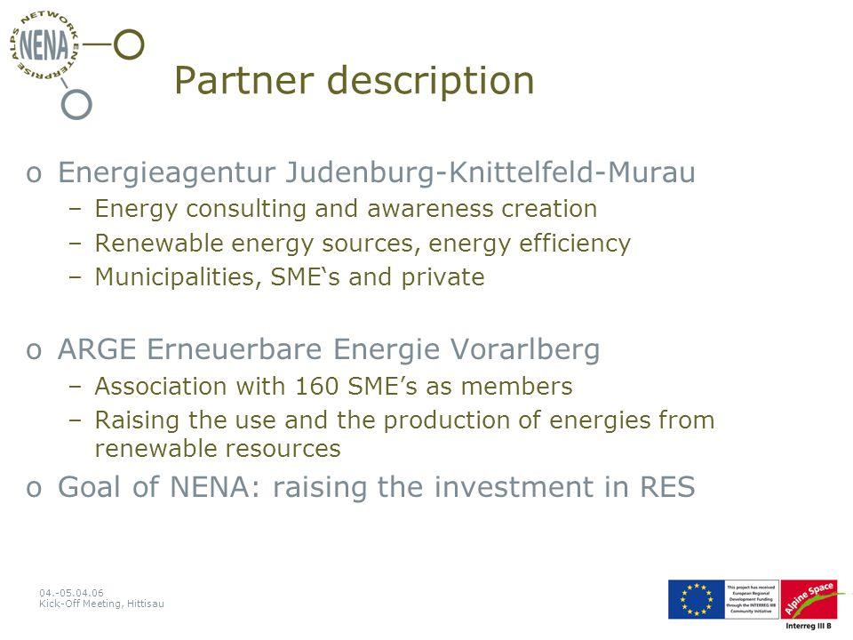 04.-05.04.06 Kick-Off Meeting, Hittisau firewoodpelletswoodchips biomass heating systems