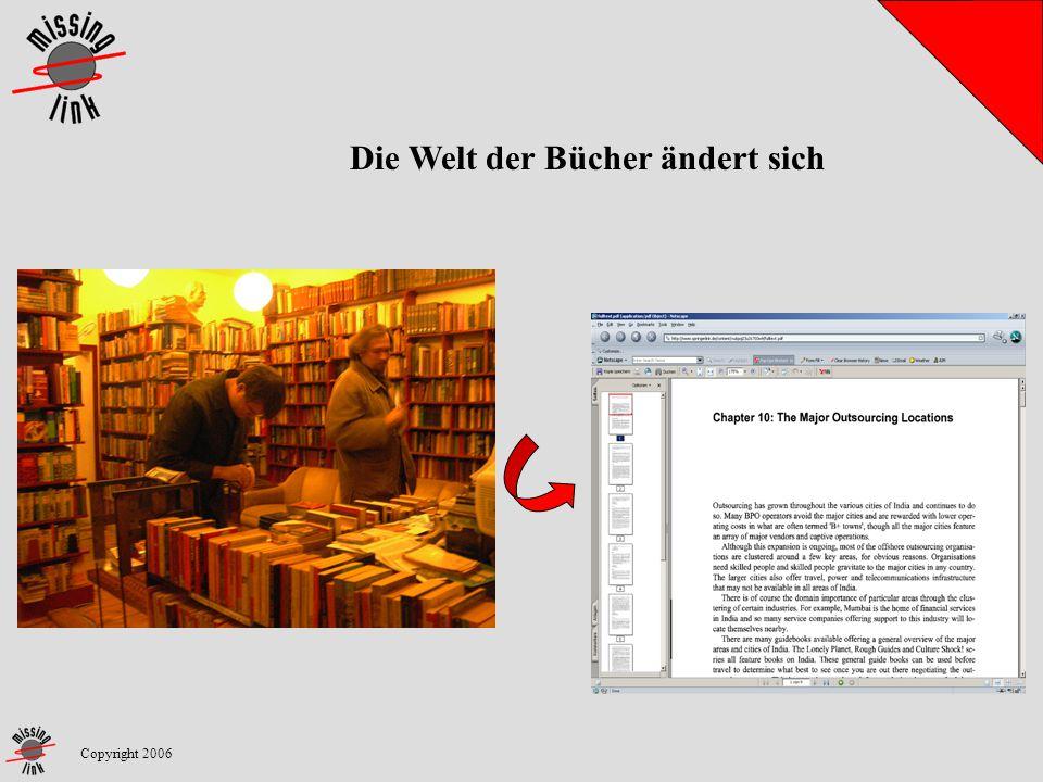 Copyright 2006 Die Welt der Bücher ändert sich