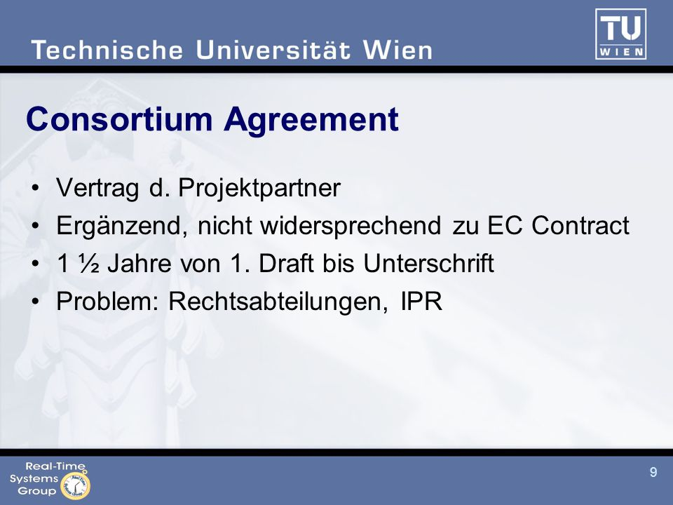 9 Consortium Agreement Vertrag d.
