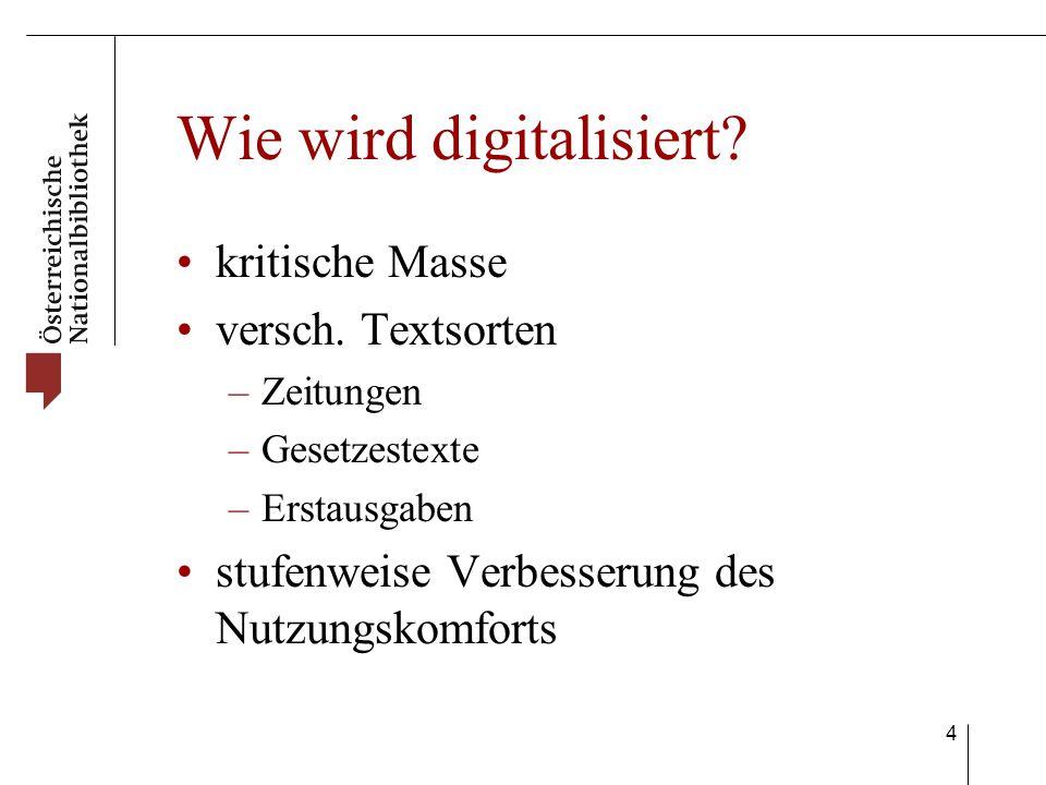 4 Wie wird digitalisiert. kritische Masse versch.