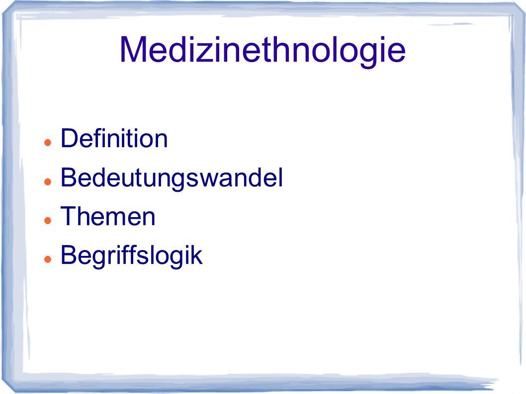 Medizinanthropologie Definition Lösung der Begriffsproblematik Medical Anthropology auf Deutsch.