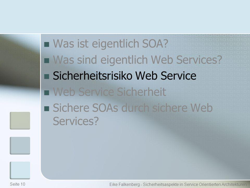Was ist eigentlich SOA. Was sind eigentlich Web Services.