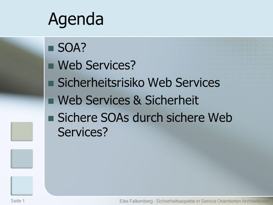Agenda SOA. Web Services.