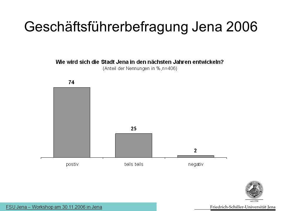 Geschäftsführerbefragung Jena 2006