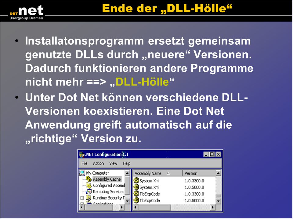 Security Administration unter Dot Net