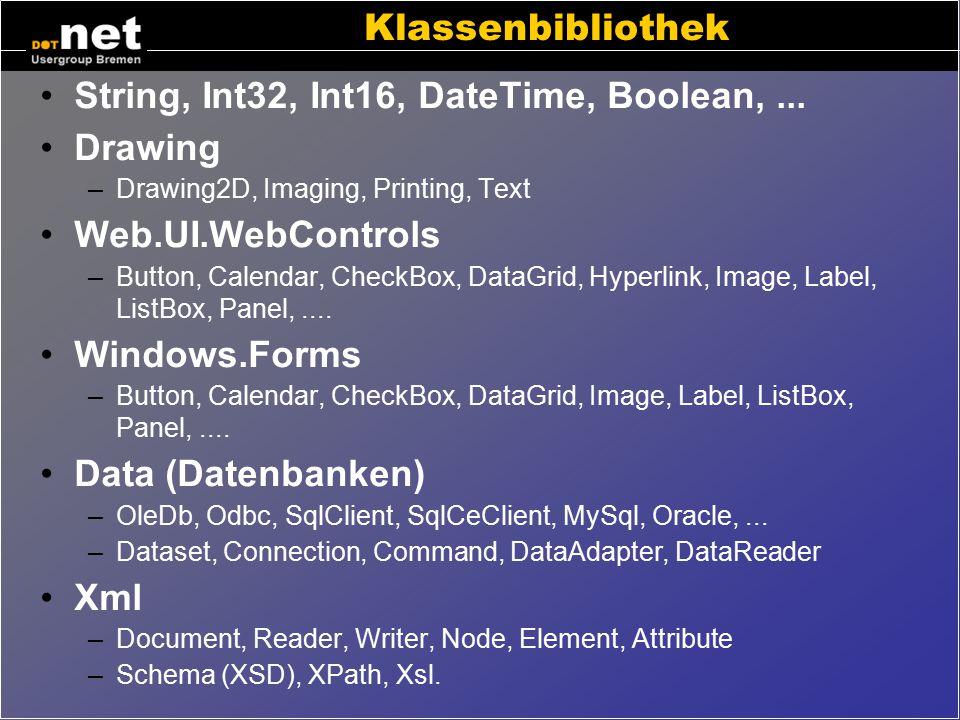 """Weitere Sprachen J#.net """"Jay Sharp"""" –ist Microsofts Version von Java –basierend auf Java 1.1 –keine Alternative zu Java ! JScript.net –Javascript für"""