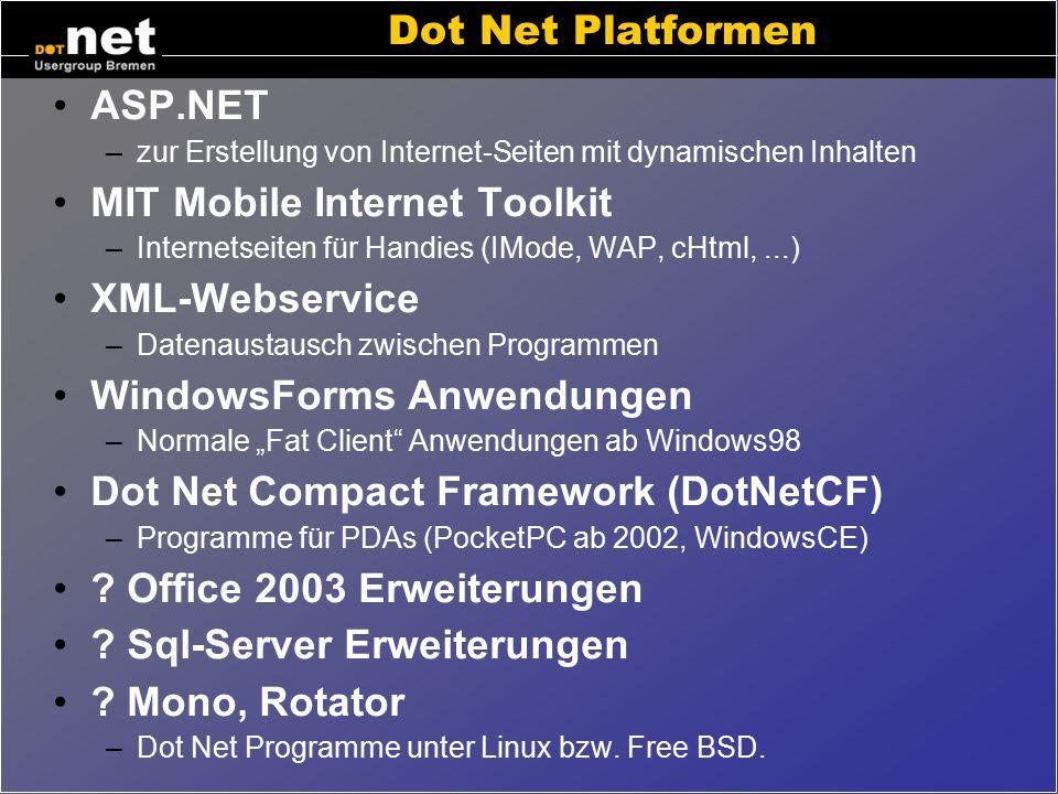 Dot Net: Mehr als 4500 Klassen