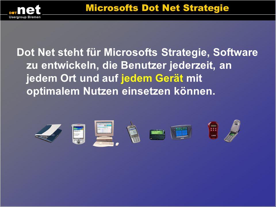 Einleitung Microsofts Strategie Wo kann man Dot Net begegnen? Bestandteile von Dot Net.