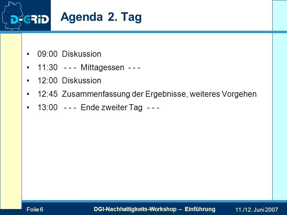 Folie 6 DGI-Nachhaltigkeits-Workshop – Einführung 11./12.