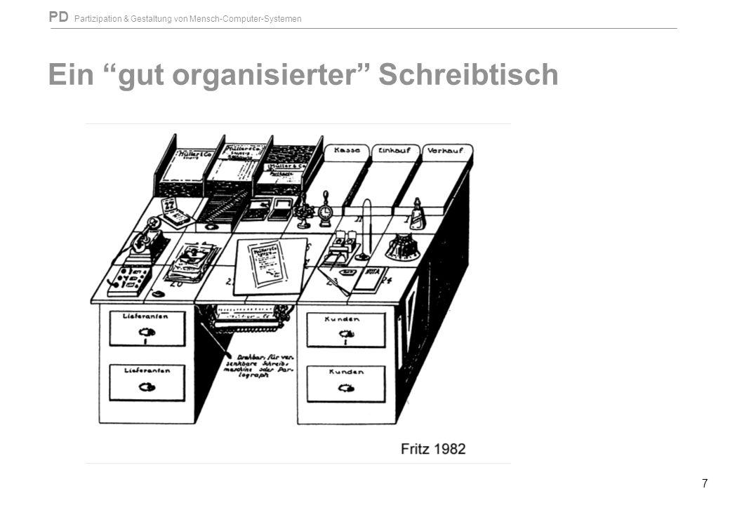 """PD Partizipation & Gestaltung von Mensch-Computer-Systemen 7 Ein """"gut organisierter"""" Schreibtisch"""