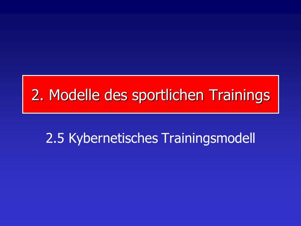 2. Modelle des sportlichen Trainings 2.5 Kybernetisches Trainingsmodell