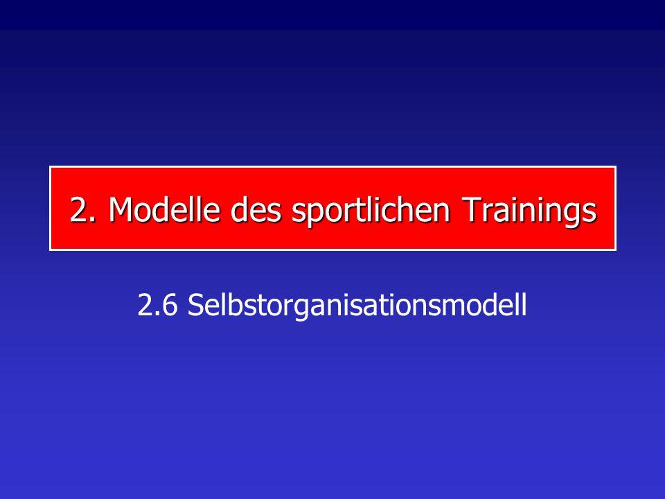 2. Modelle des sportlichen Trainings 2.6 Selbstorganisationsmodell