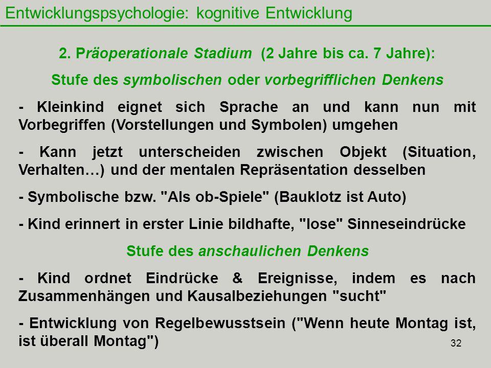 32 Entwicklungspsychologie: kognitive Entwicklung 2.