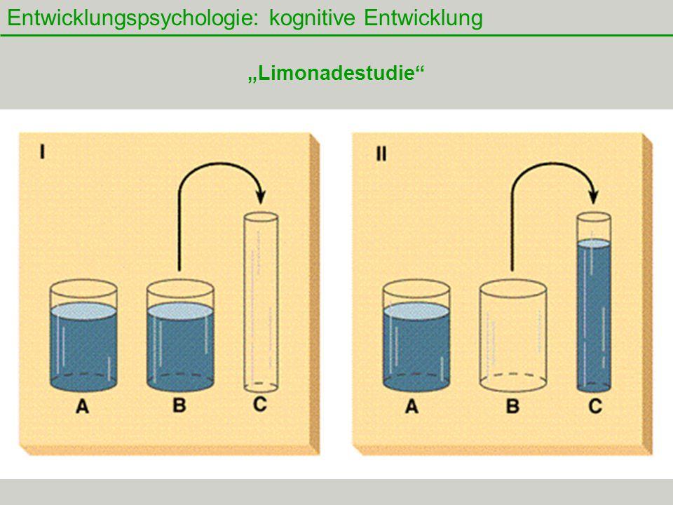 """34 Entwicklungspsychologie: kognitive Entwicklung """"Limonadestudie"""