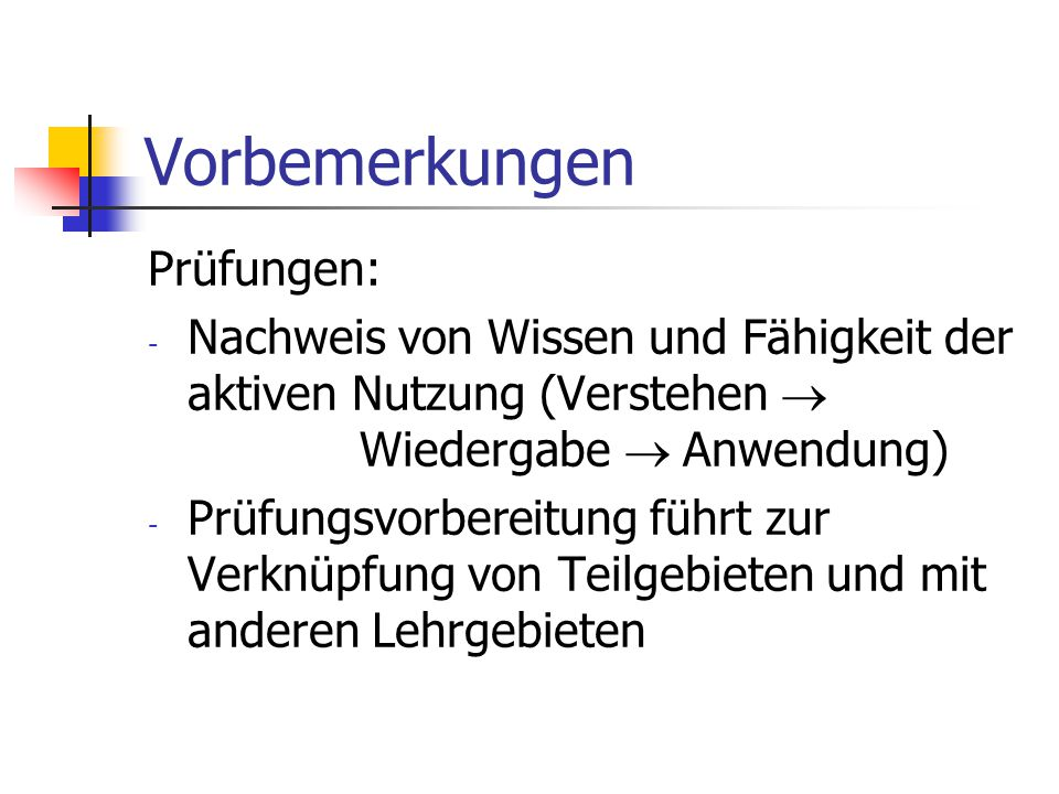 Vorbemerkungen Abschlüsse und Bedingungen: - Studiengang Informatik (Fachprüfung Praktische Informatik): 1.