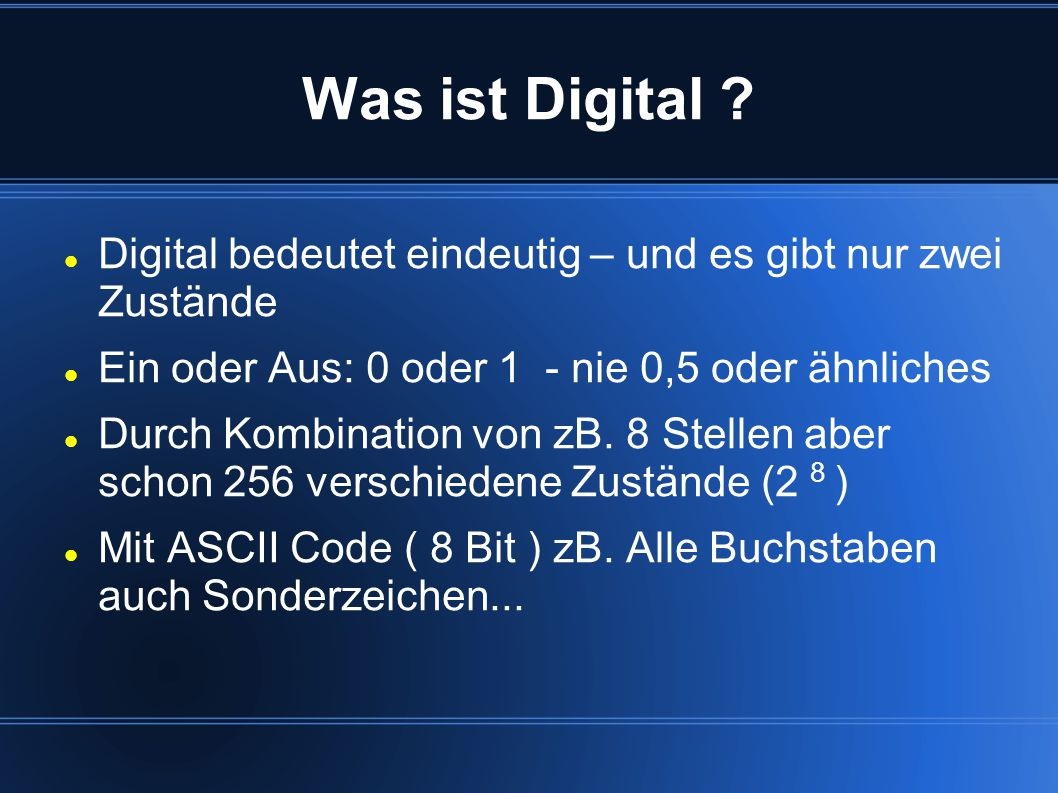 Was ist Digital .