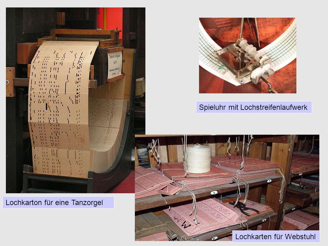 Lochkarten Abakus ( ursprünglich 3000 v.Chr. ) Lochkarte ( seit ca1890 ) Bild : Standard IBM ca.