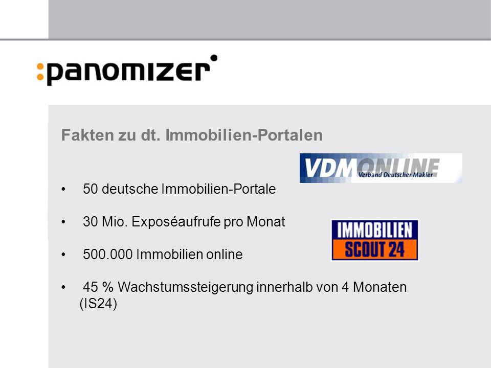 Fakten zu dt.Immobilien-Portalen 50 deutsche Immobilien-Portale 30 Mio.