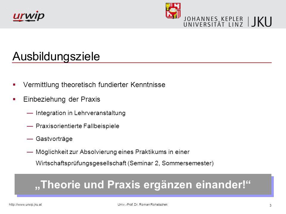 4 http://www.urwip.jku.atUniv.-Prof.Dr.