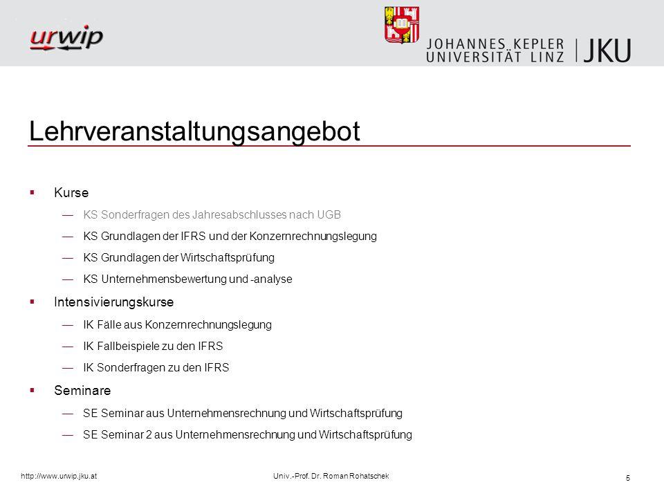 16 http://www.urwip.jku.atUniv.-Prof.Dr.