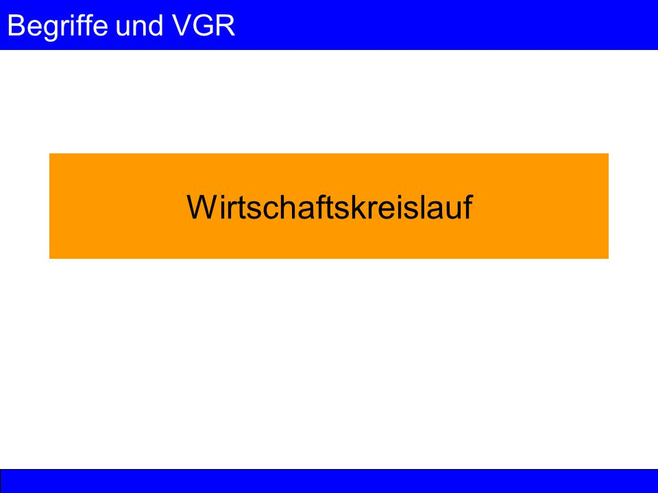 Begriffe und VGR 16 © Anselm Dohle-Beltinger 2006 Zur Verwandtschaft von Gütererzeugung und Faktoreinkommen (3) Deshalb ist die Brutto-Wertschöpfung (in etwa das BIP) wertgleich mit der Höhe der Faktoreinkommen zuzüglich Abschreibungen.