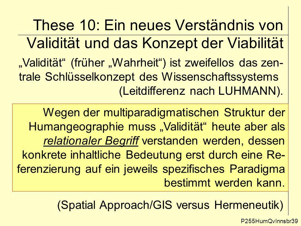 """These 10: Ein neues Verständnis von Validität und das Konzept der Viabilität P255HumQvInnsbr39 """"Validität"""" (früher """"Wahrheit"""") ist zweifellos das zen-"""