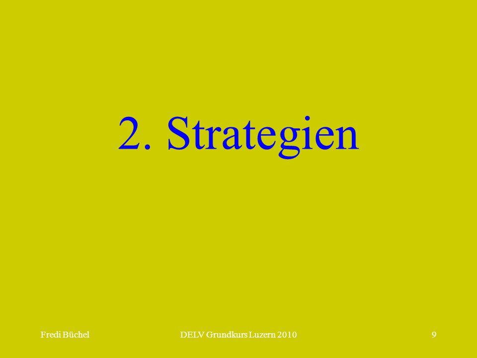 Fredi BüchelDELV Grundkurs Luzern 20109 2. Strategien