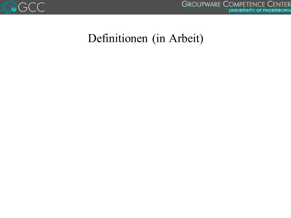 Definitionen (in Arbeit)