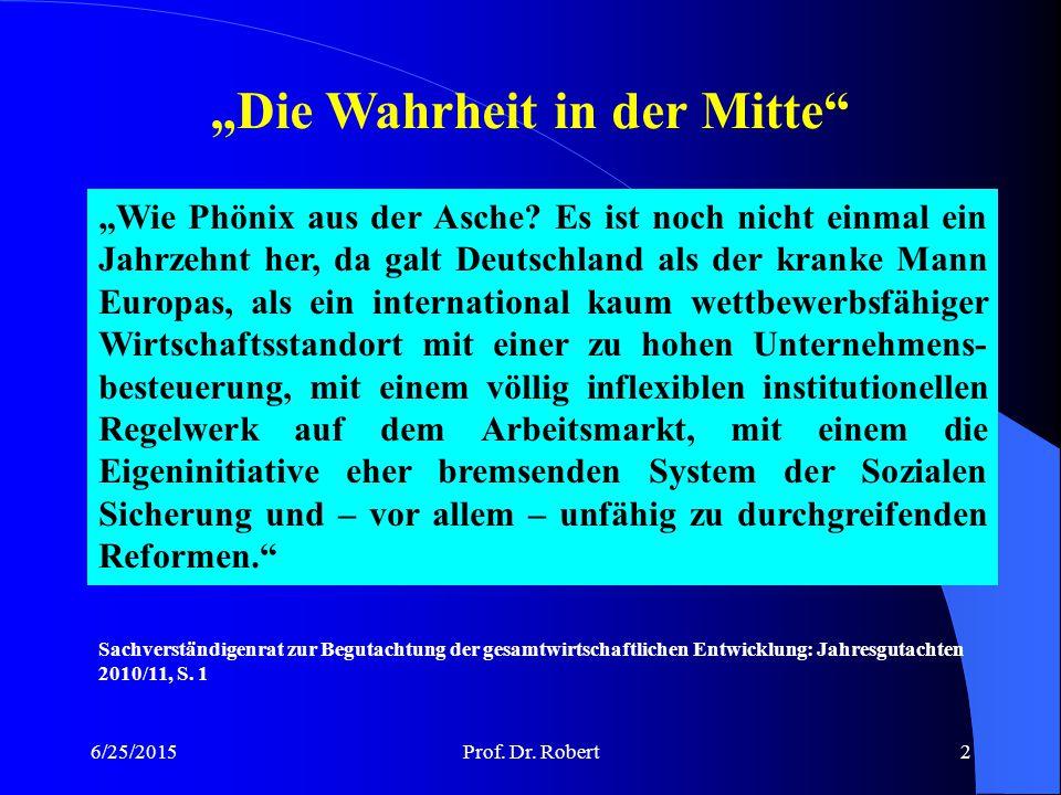 6/25/2015Prof.Dr. Robert3 Grundbegriffe I Was ist Wirtschaften.