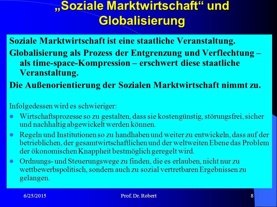 6/25/2015Prof.Dr. Robert19 Handel V: Steigerung des intraregionalen Handels von ca.