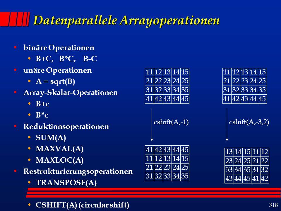 319 Sektionsnotation für Arrays array (...., ini : end : offset/step,.....