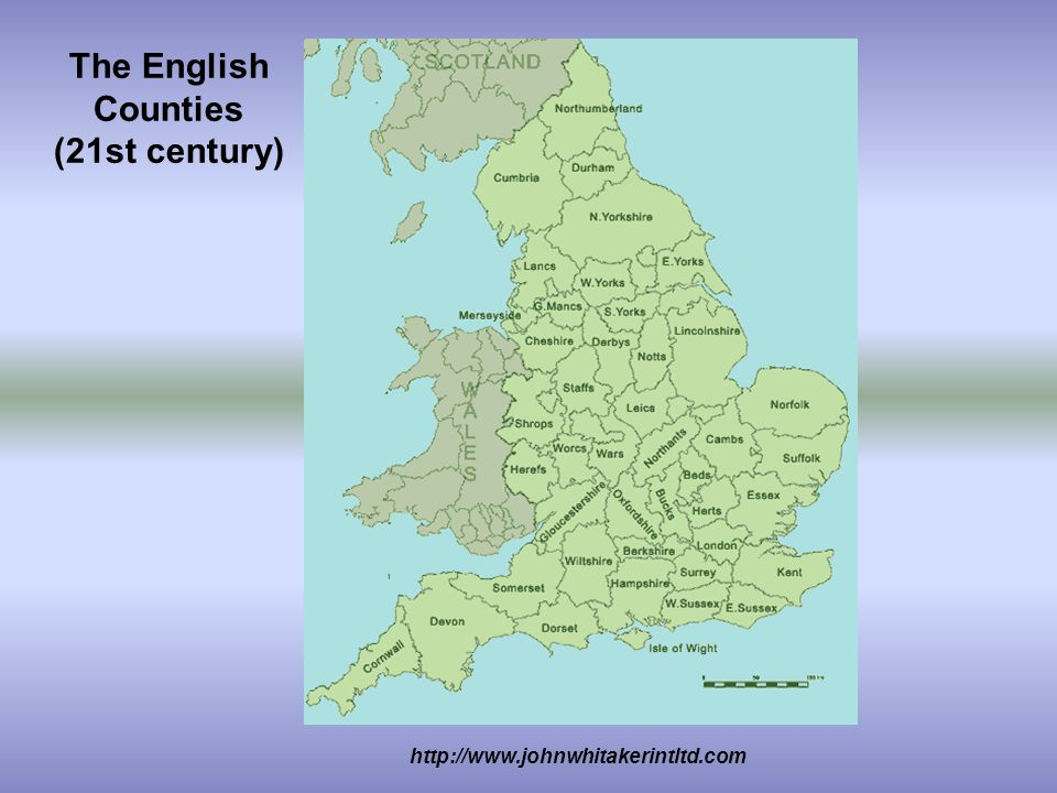 http://www.johnwhitakerintltd.com The English Counties (21st century)
