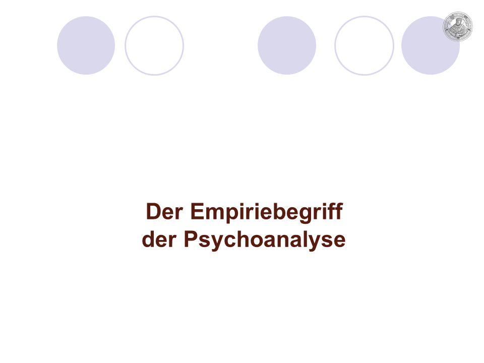 Der Empiriebegriff der Psychoanalyse