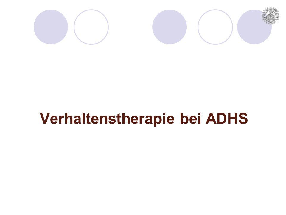 Verhaltenstherapie bei ADHS