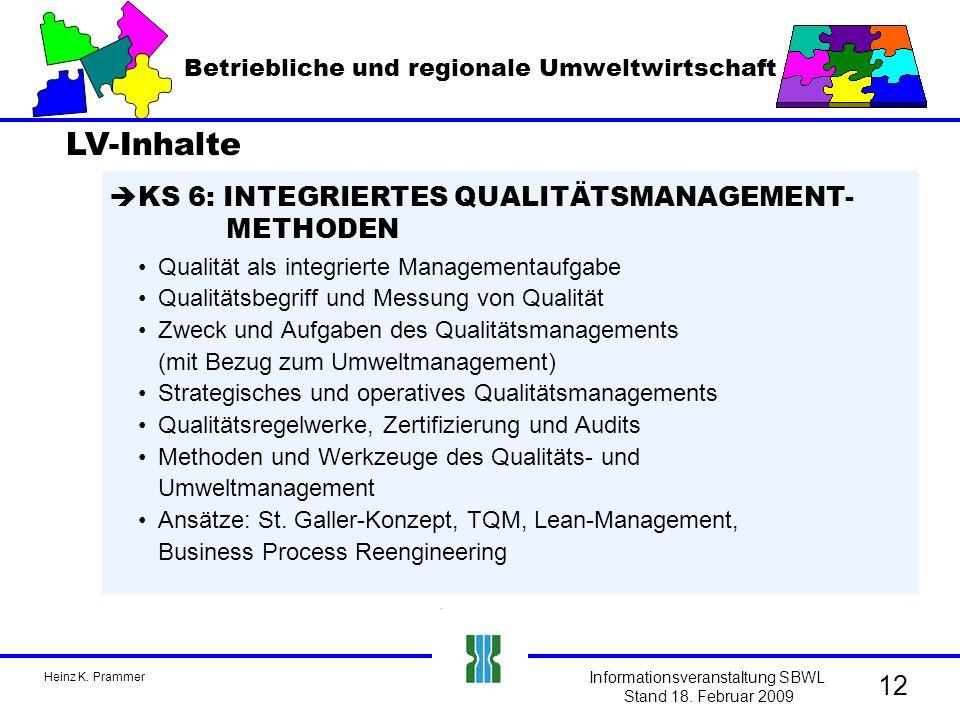 Heinz K. Prammer Informationsveranstaltung SBWL Stand 18.