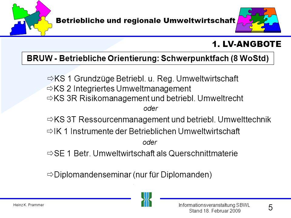 Heinz K.Prammer Informationsveranstaltung SBWL Stand 18.