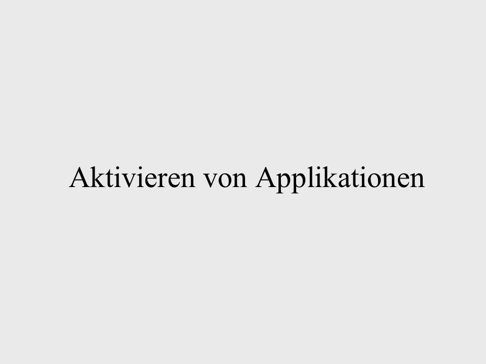 Aktivieren von Applikationen