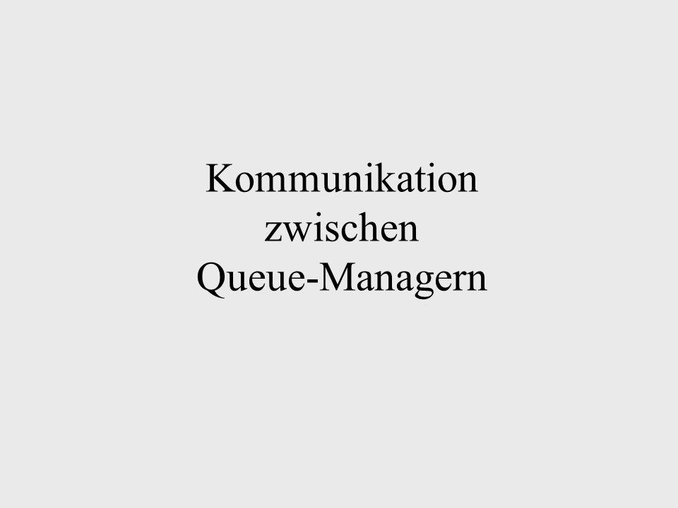 Kommunikation zwischen Queue-Managern