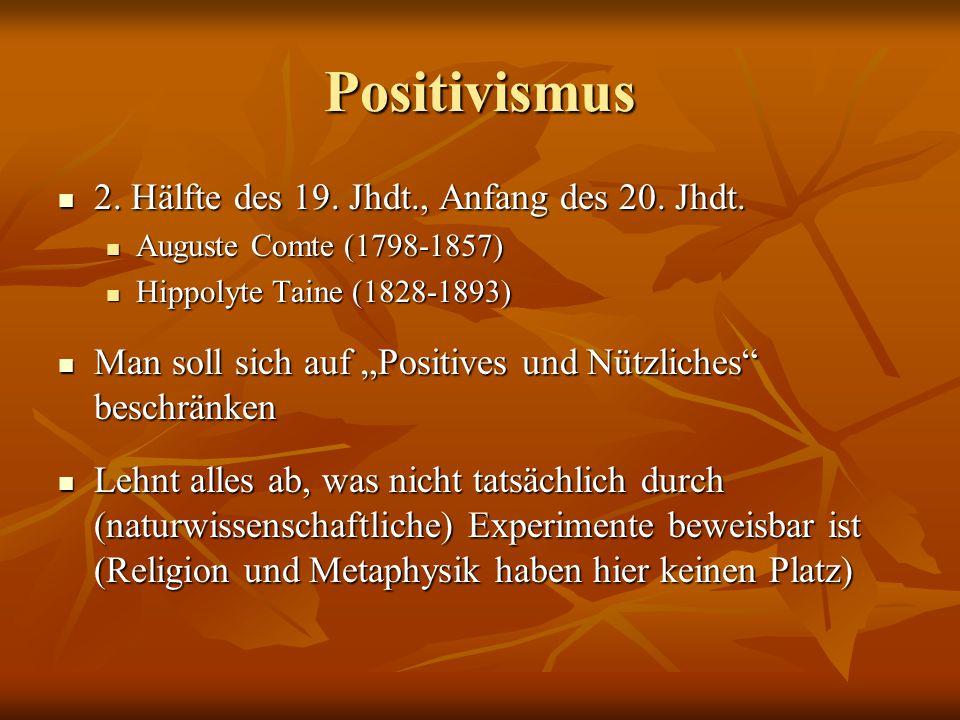 Auguste Comte Cours de philosophie positive Cours de philosophie positive Dreistadiengesetz (3 Ebenen) Dreistadiengesetz (3 Ebenen) 1.