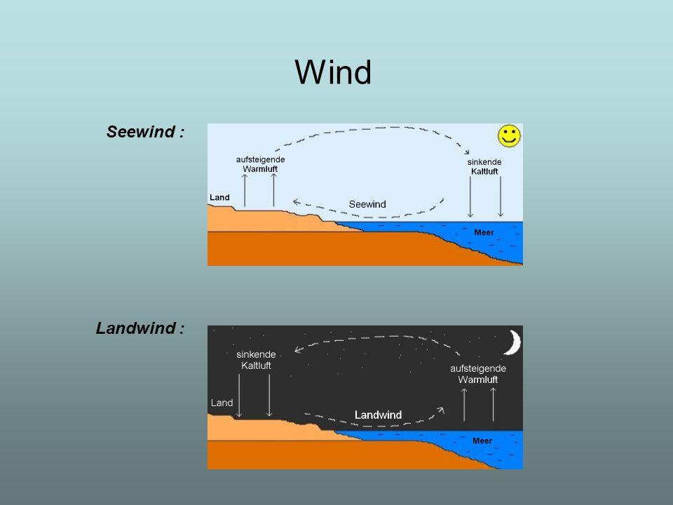Wind Seewind : Landwind :