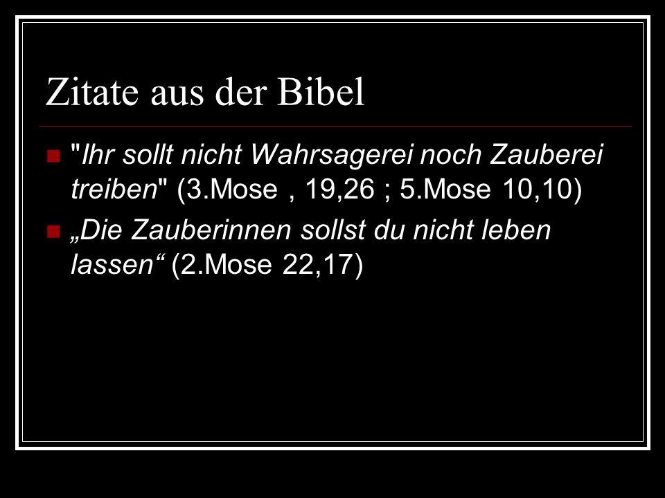 Beginn der Hexenverfolgung im Altertum Bibel verbietet Zauberei Bibelstellen wurden als Beweis für die Existenz angesehen Germanen hatten Seherinnen Ägypten und Babylonien (Bestrafung!) keine Hexenverfolgung (Einzelfälle) Kirche hielt sich raus (->Aberglaube)