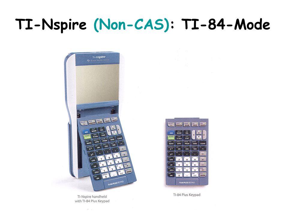 TI-Nspire (Non-CAS): TI-84-Mode