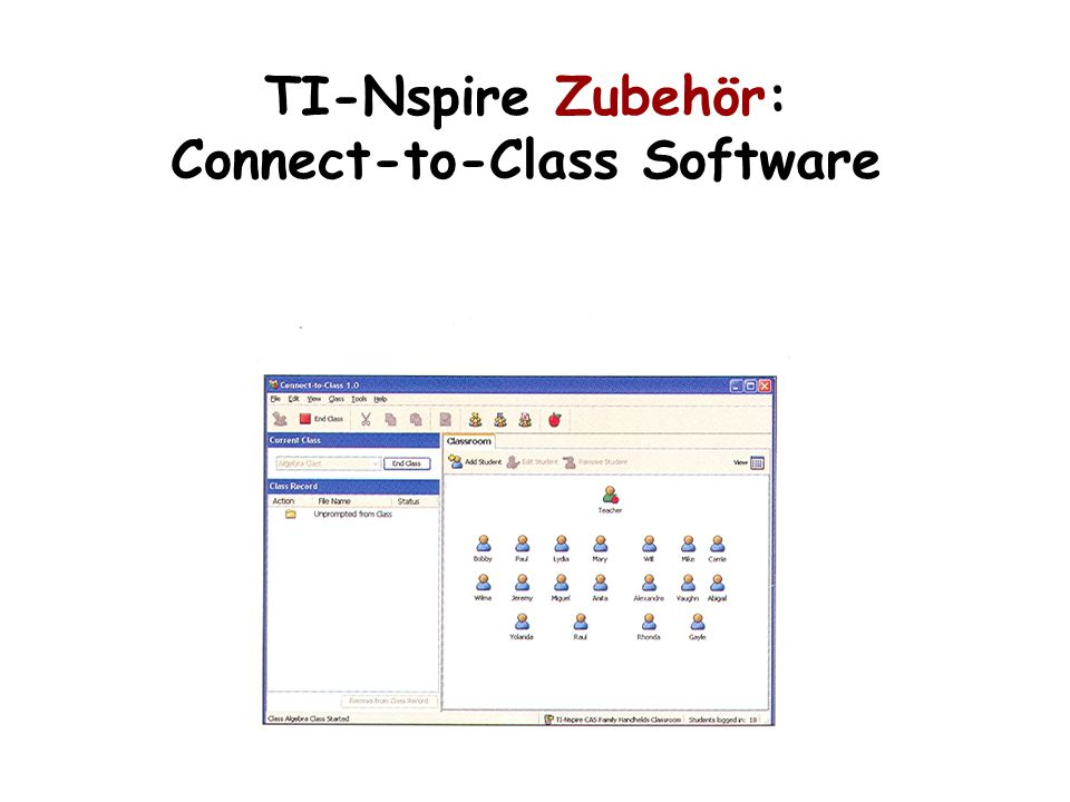 TI-Nspire Zubehör: Connect-to-Class Software