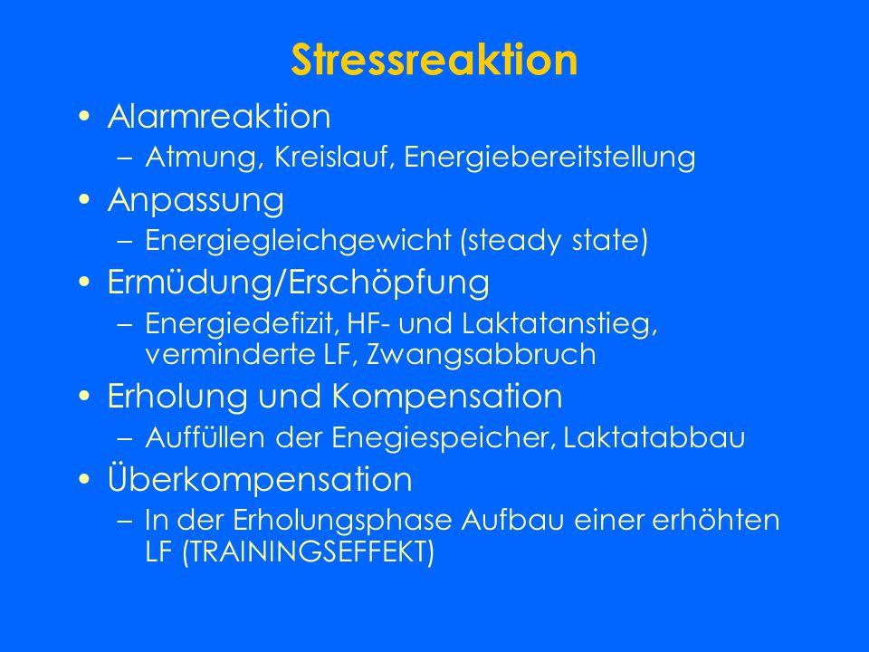 Biologische Grundlagen des Trainings Anpassung des Organismus auf Reize und Erreichen eines höheren funktionellen Trainingsniveaus Stresstheorie: Syst