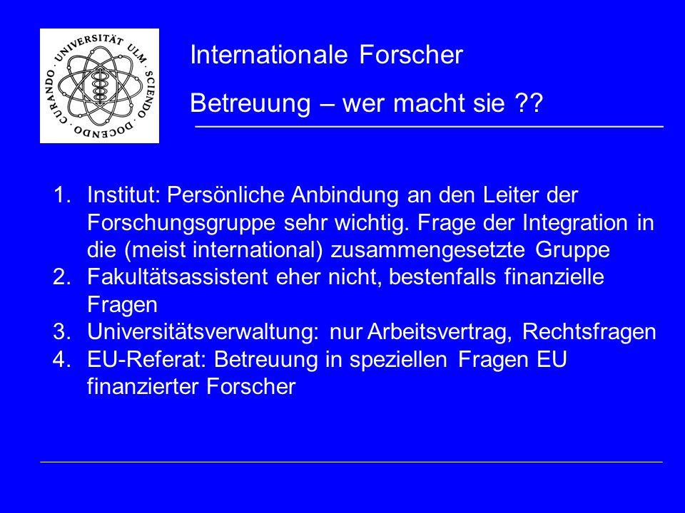 5.International Office: Hilfestellung bei VISA und aufenthaltsrechtlichen Problemen.