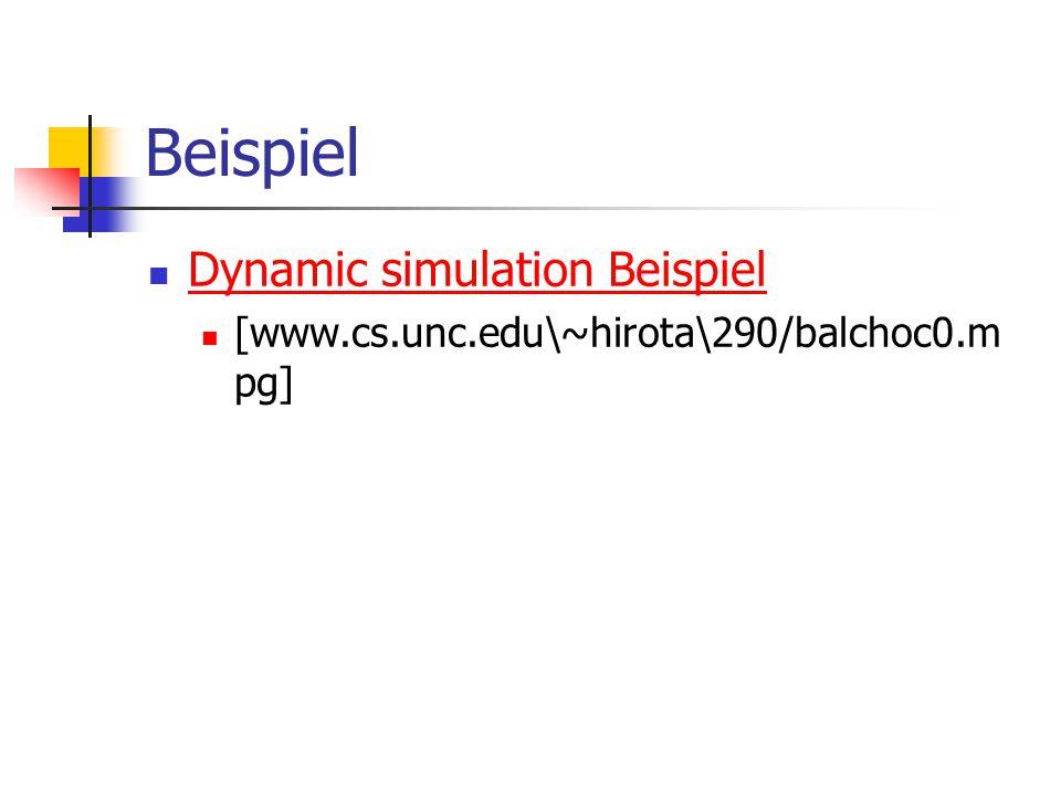 Beispiel Dynamic simulation Beispiel [www.cs.unc.edu\~hirota\290/balchoc0.m pg]