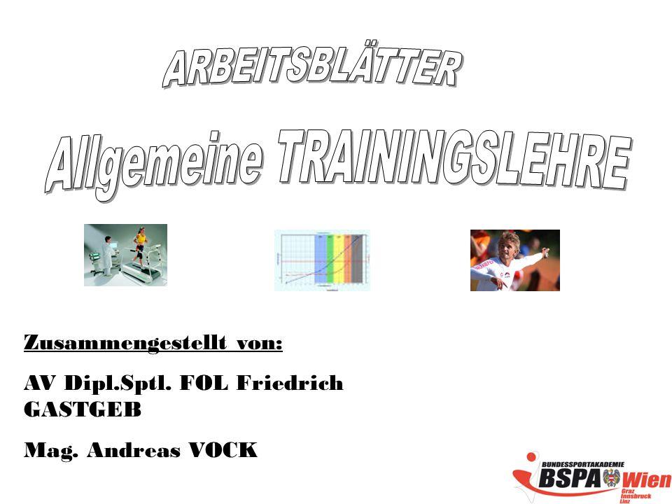 Zusammengestellt von: AV Dipl.Sptl. FOL Friedrich GASTGEB Mag. Andreas VOCK