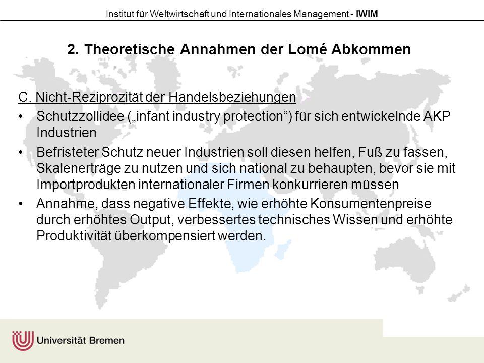 Institut für Weltwirtschaft und Internationales Management - IWIM 3.